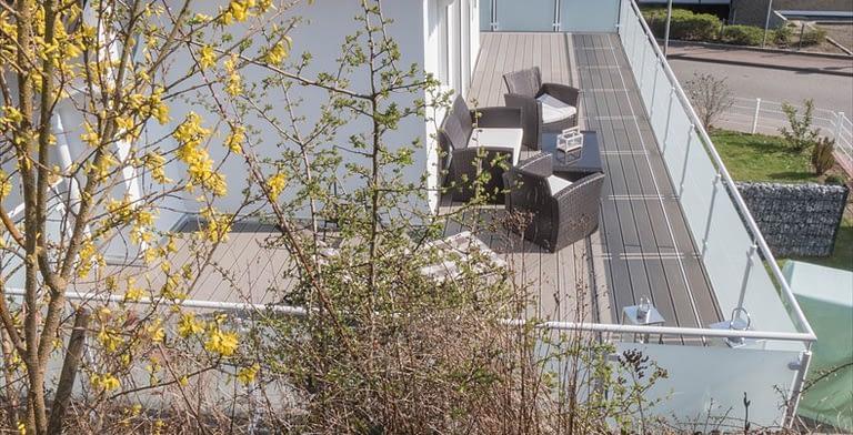 Dachterrasse Ferienwohnung Seeblick